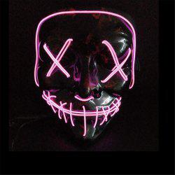 Clubbing Light Up Stitches LED Mask Costume Halloween Rave Cosplay Party Purge -