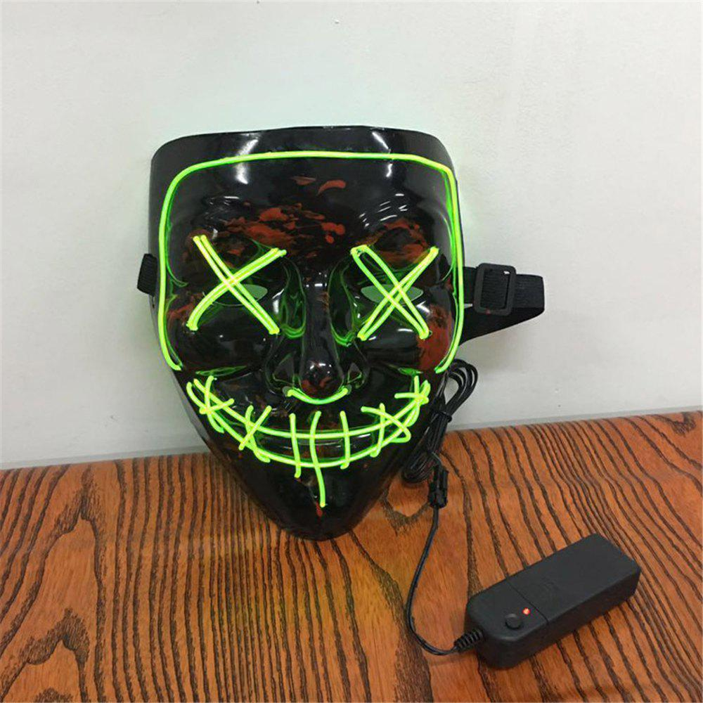 Unique Clubbing Light Up Stitches LED Mask Costume Halloween Rave Cosplay Party Purge