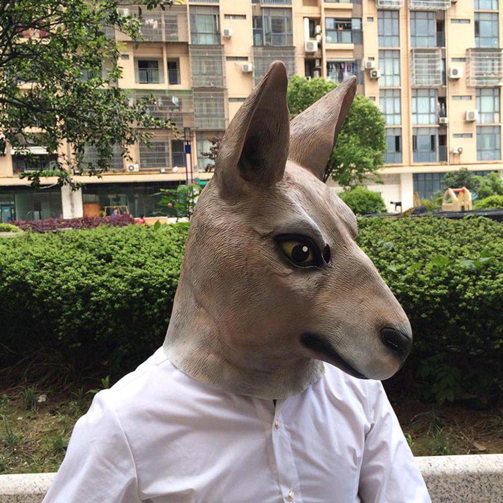 Image of Cosplay Halloween Party Latex Kangaroo Head Mask
