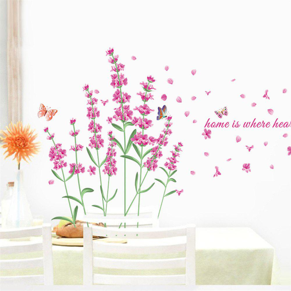 Purple Lavender Wall Sticker for Children\'S Bedroom. Background Wall  Stickers