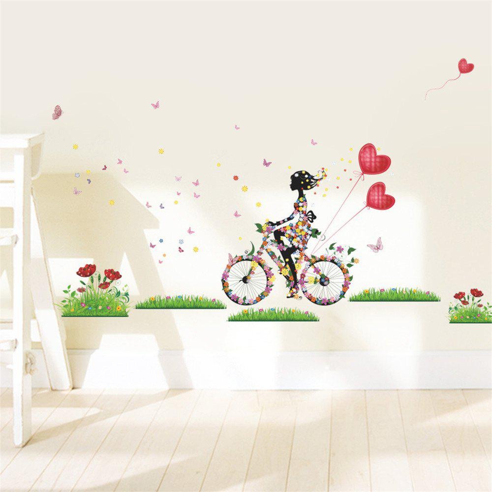 Fairy Girl Wall Stickers Vinyl DIY Butterflies Wall Art For Kids Rooms   20  X 28 Inch