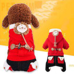 Fashionable Pet Winter Style Four Feet Brushed Thicken The Lion'S Costume -