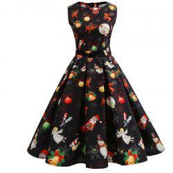 Christmas Dress with Short Sleeves -