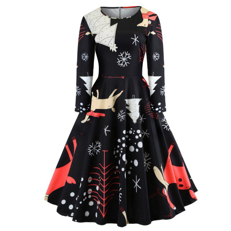 New The Dress Is A Christmas Dress with Deer on It