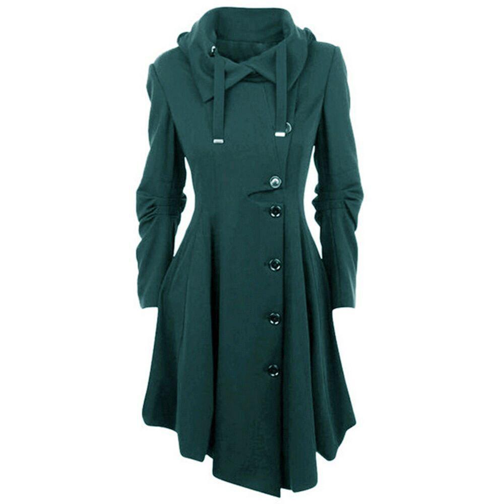 Shops The New Dress Has An Irregular Bottom and Double-Sided Coat