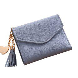 Women'S Short Wallet Tassel Pendant Wallet Multi-Card Coin Purse -