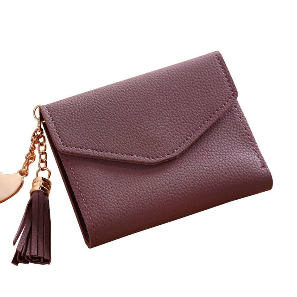 Women'S Short Wallet Tassel Pendant Wallet Multi-Card Coin Purse (368703007) photo