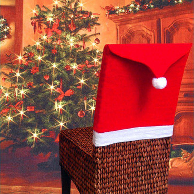 2019 Red Non Woven Christmas Chair Set With Christmas Table