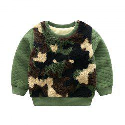 for Autumn and Winter Children'S Jacket with Thick Wool and Sweater -