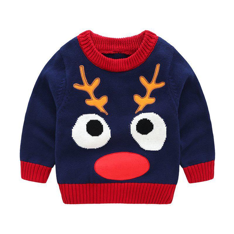 New 2018 New Children'S Sweater Spring and Autumn Pure Cotton Sweater Chi