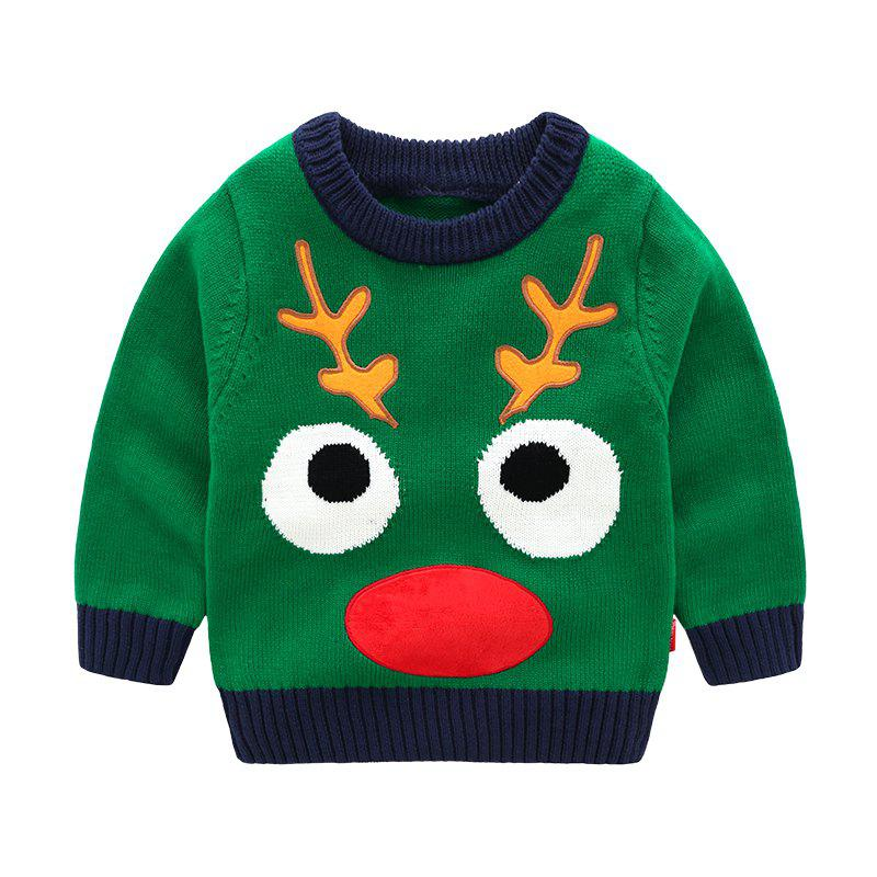 Outfit 2018 New Children'S Sweater Spring and Autumn Pure Cotton Sweater Chi