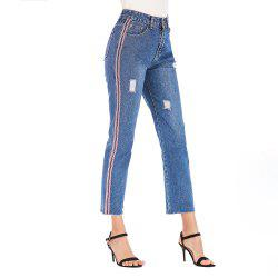 Jeans FemaleEurope and The United States New Slim High Waist Pants Webbing -