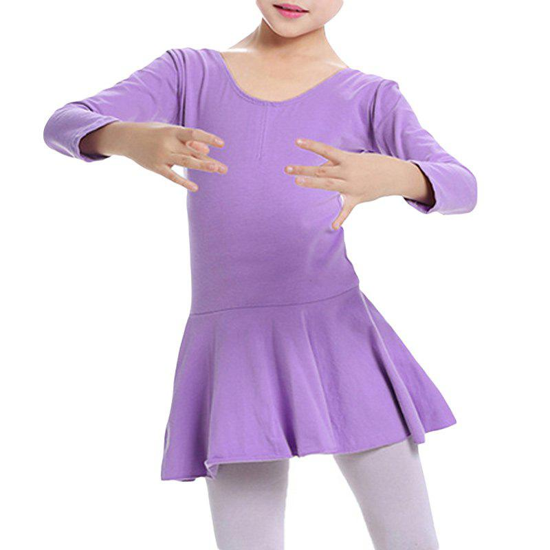 1cd705f93 Latest Girl's Ballet Dress Sweet Cute Solid Color O Neck Long Sleeve Dance  Clothing