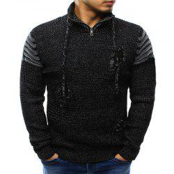 2018 Men'S Zipper Hole Knitted Sweater -