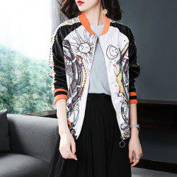 Long-Sleeved Printed Baseball Suit Casual Jacket -