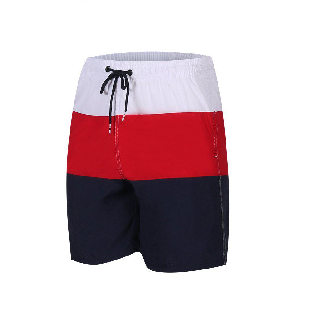 New Men'S Beach Short Pants Swimwear Quick-Drying Movement Surfing Sport Patchwork