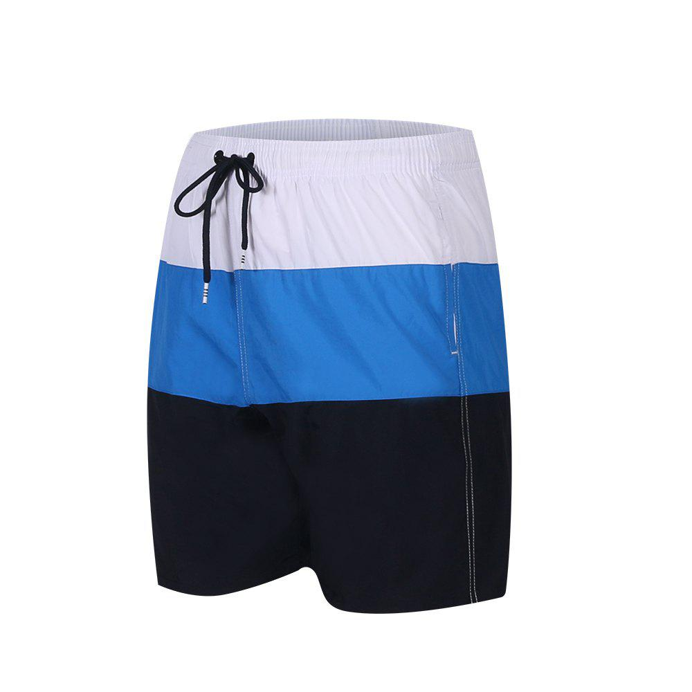 Online Men'S Beach Short Pants Swimwear Quick-Drying Movement Surfing Sport Patchwork