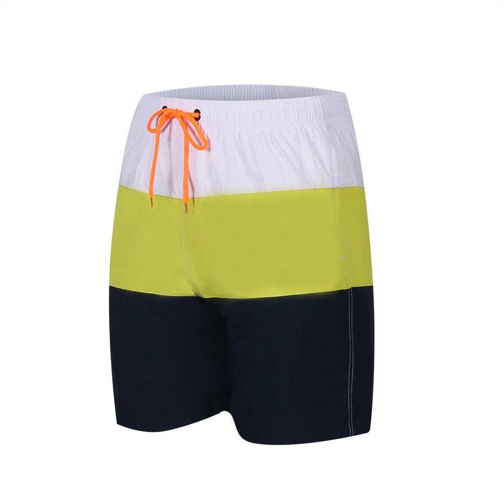 Chic Men'S Beach Short Pants Swimwear Quick-Drying Movement Surfing Sport Patchwork