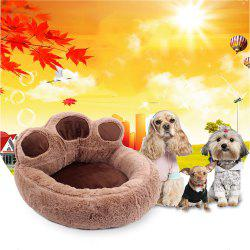 Fashion Pet Products Thicken Plush Bear'S Paw Doghouse Lovely Cat Mat -