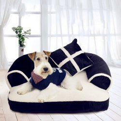 Fashion Pet With Pillow Gentleman Sofa Doghouse Lovely Cat Mat -