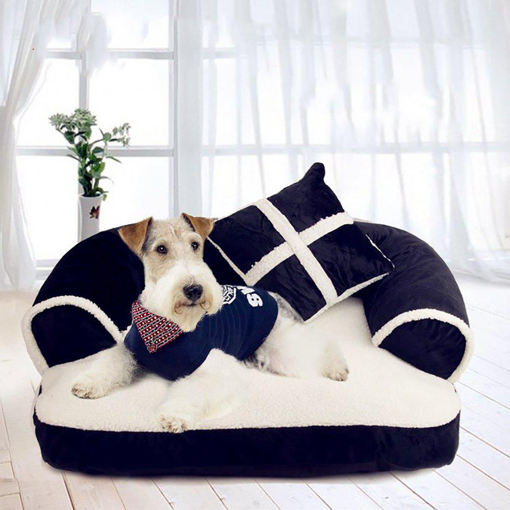Store Fashion Pet With Pillow Gentleman Sofa Doghouse Lovely Cat Mat