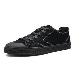 Men Trend Belt Wear-Resistant Wild High-Top Casual Skate Shoes -