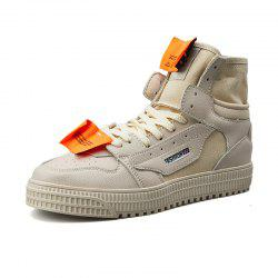 Men Trend High-Top Thick-Soled Breathable Casual Skate Shoes -