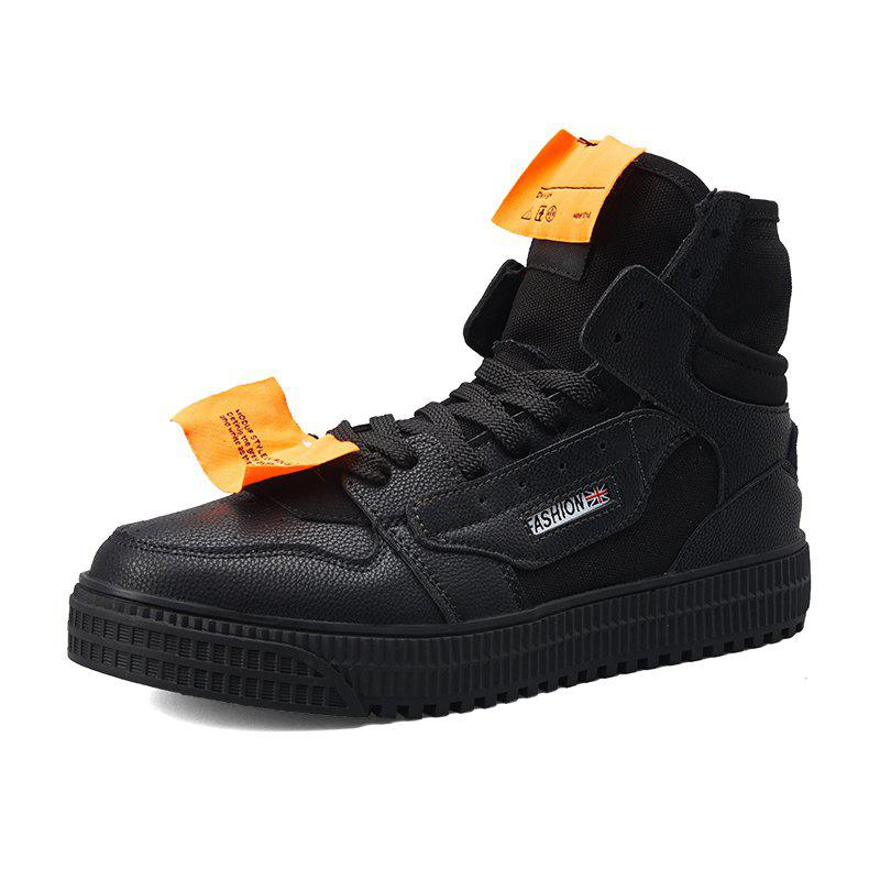 Outfits Men Trend High-Top Thick-Soled Breathable Casual Skate Shoes