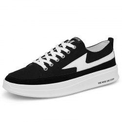 Men Increased Thick-Soled Trend Wild Canvas Casual Skate Shoes -