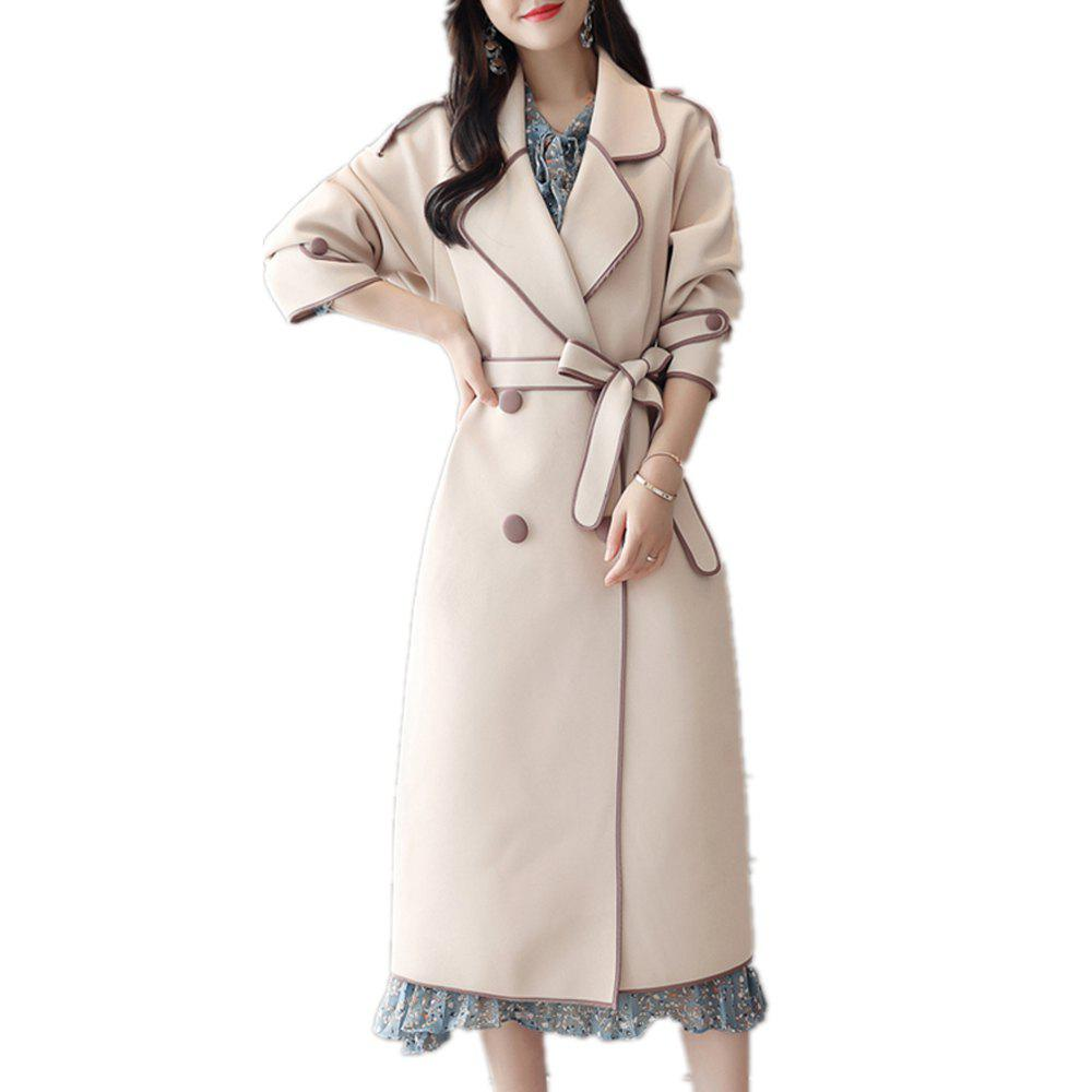 Buy Long Casual Sleeve Loose for Trench Coat Women