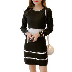 Long Sleeve Knitted Dress -
