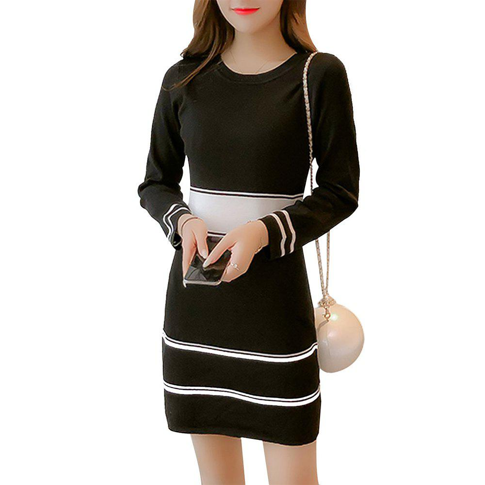 Hot Long Sleeve Knitted Dress