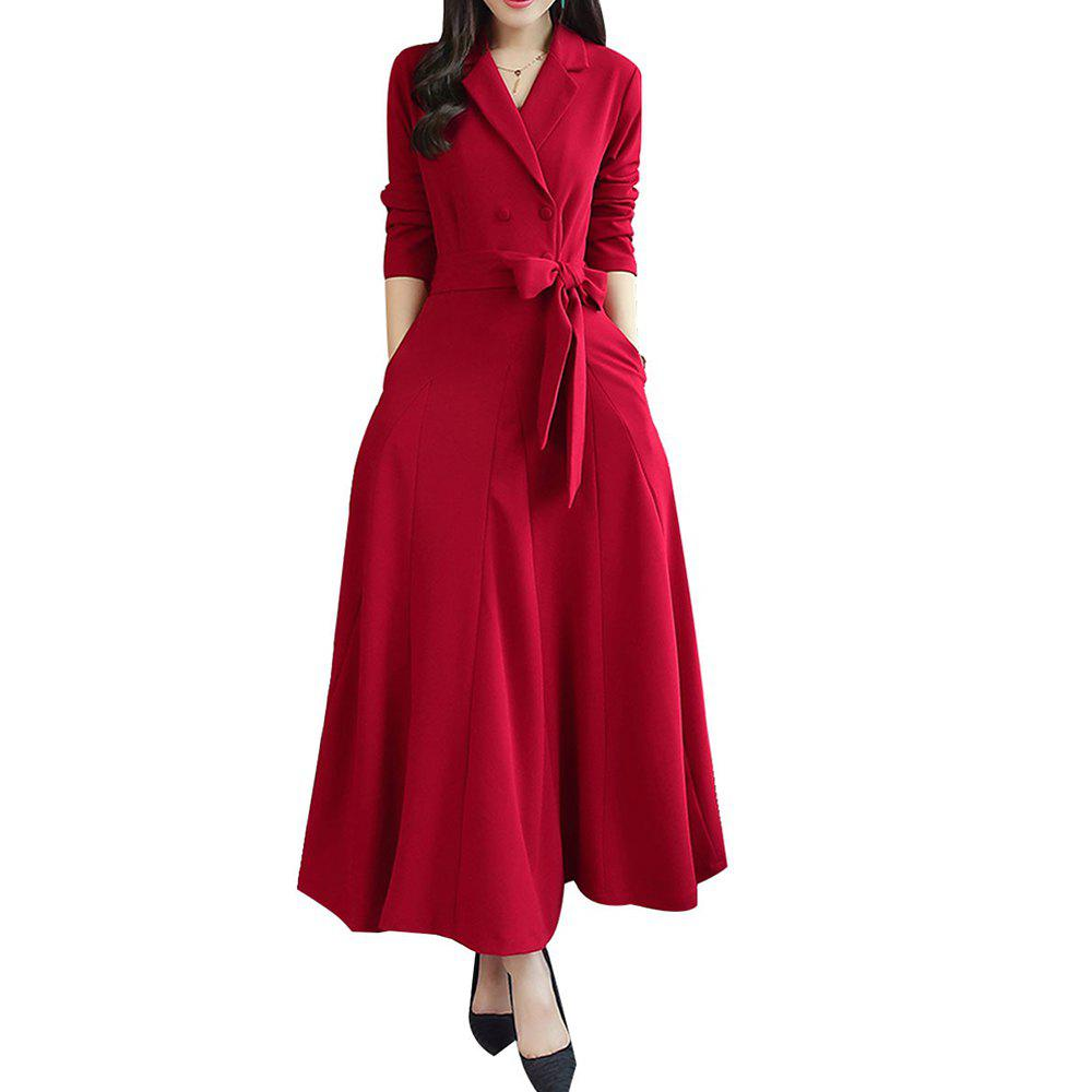 Best Slim - Fit V - Neck Waist Slim Dress