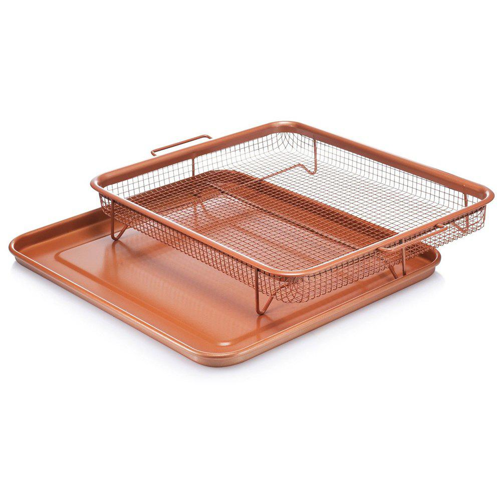 Stainless Steel Potato Baking Dish Oven Healthier Bacon Oil Drip Rack Tray
