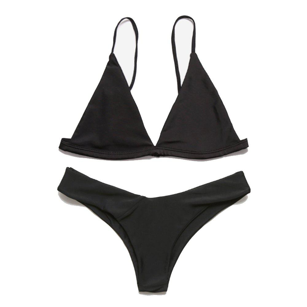 Outfits European and American Women Sexy Solid Color Bikini Bathing Suit