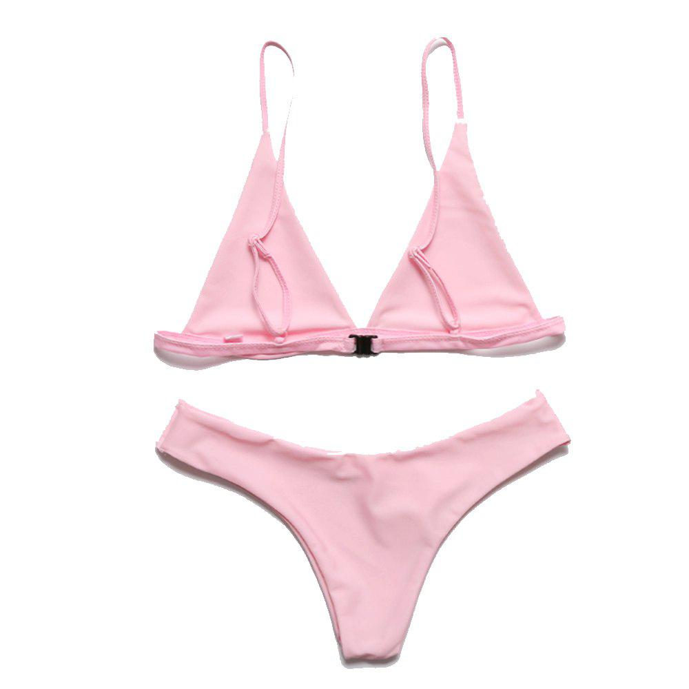Европейские и американские женщины Sexy Solid Color Bikini Bathing Suit