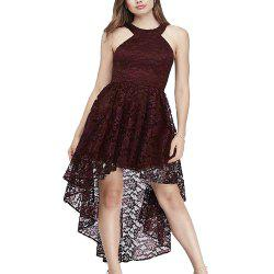 A Sexy Slim Dress with A Neck and Lace -