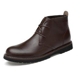 Men Stylish Boots Comfortable Wearable Lace-up -