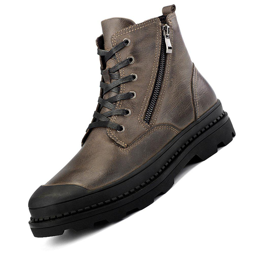 Buy Men High-top Boots Comfortable Warm Classic