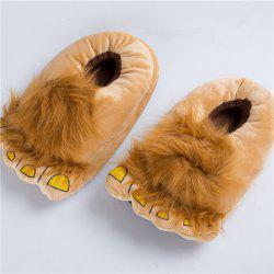 Bigfoot Poilu Pantoufles Home Cartoon Chaussures Chaudes -