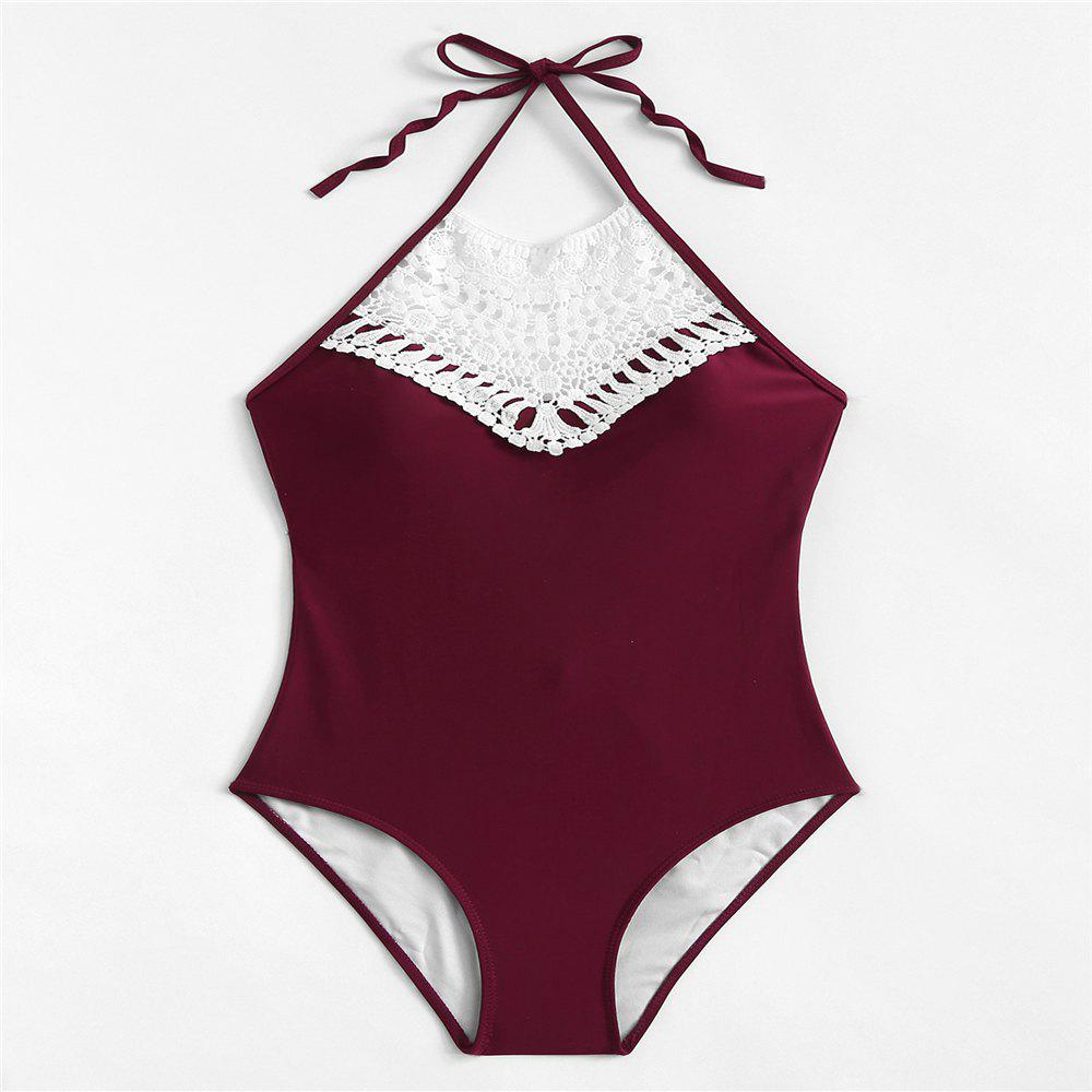Outfits Bikini Ladies Solid Color Swimsuit