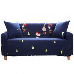 YYWH Cartoon Printing Sofa Cover Double Seat -