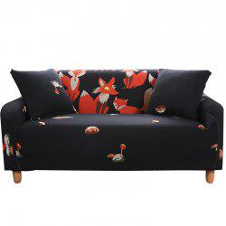 HYJL Cartoon Printing Sofa Cover Four Seat -