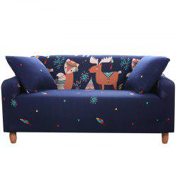 NWSL Cartoon Printing Sofa Cover Four Seat -