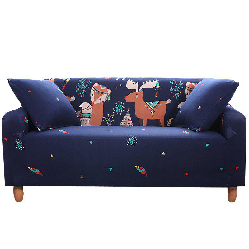 Online NWSL Cartoon Printing Sofa Cover Four Seat