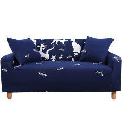 SSMM Cartoon Printing Sofa Cover Four Seat -
