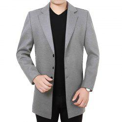Men'S Casual Long Windbreaker Woolen Coat -