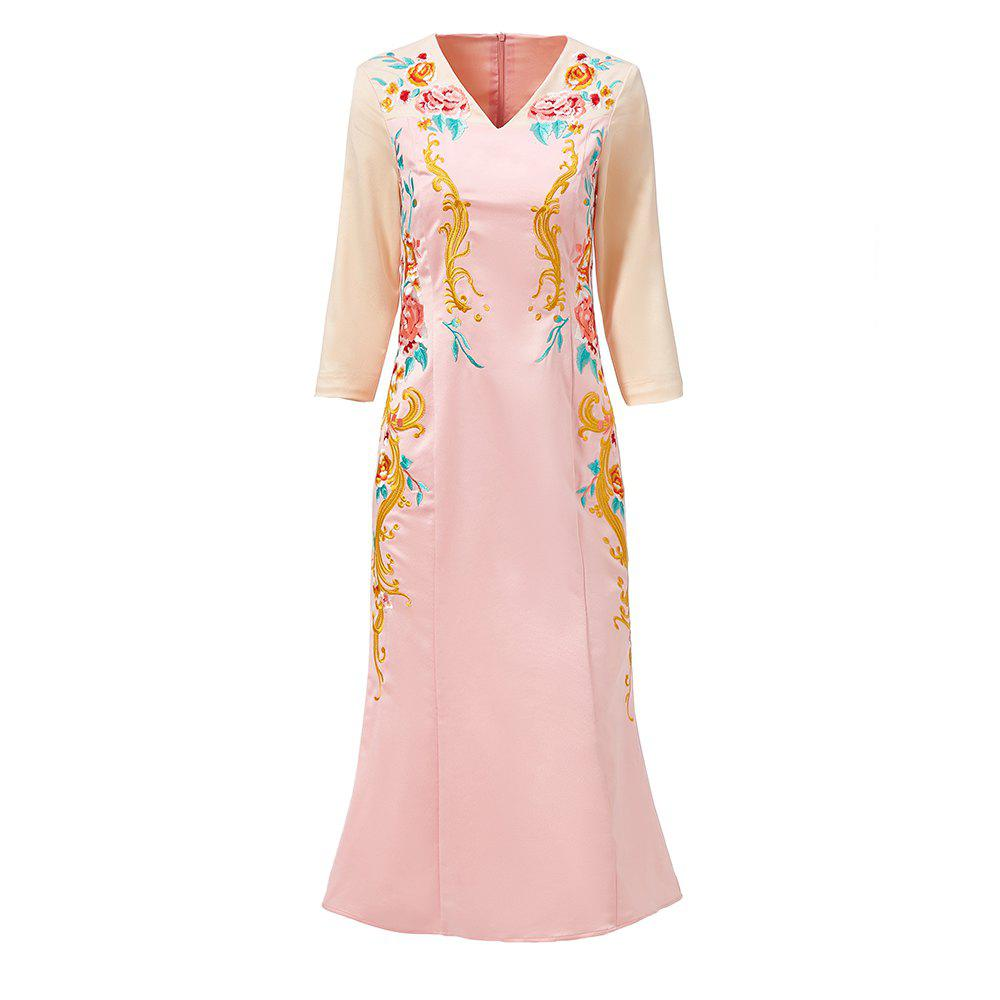 Affordable UILY 2019 Spring New Chinese Wind Women'S Embroidery Slimming Skinny Cheongsam