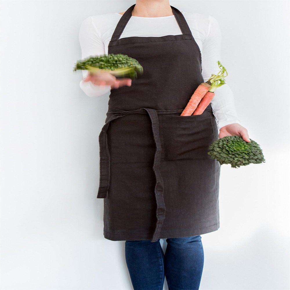 Cheap Pre-washed Linen Cotton Apron