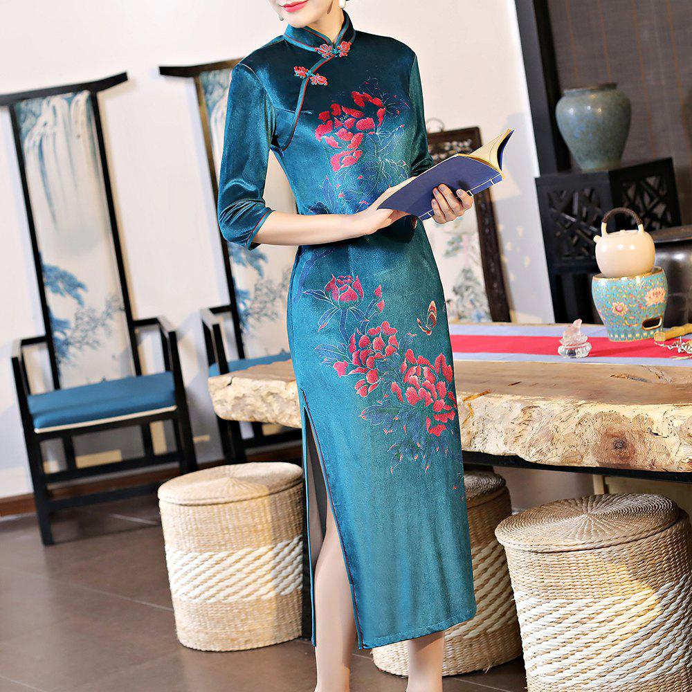 Shop Classical Aristocratic Self-Cultivation Flower Embroidery Sexy Cheongsam